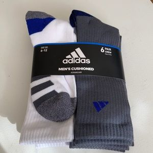Adidas Mens Cushioned Aeroready Crew Socks 6 pk